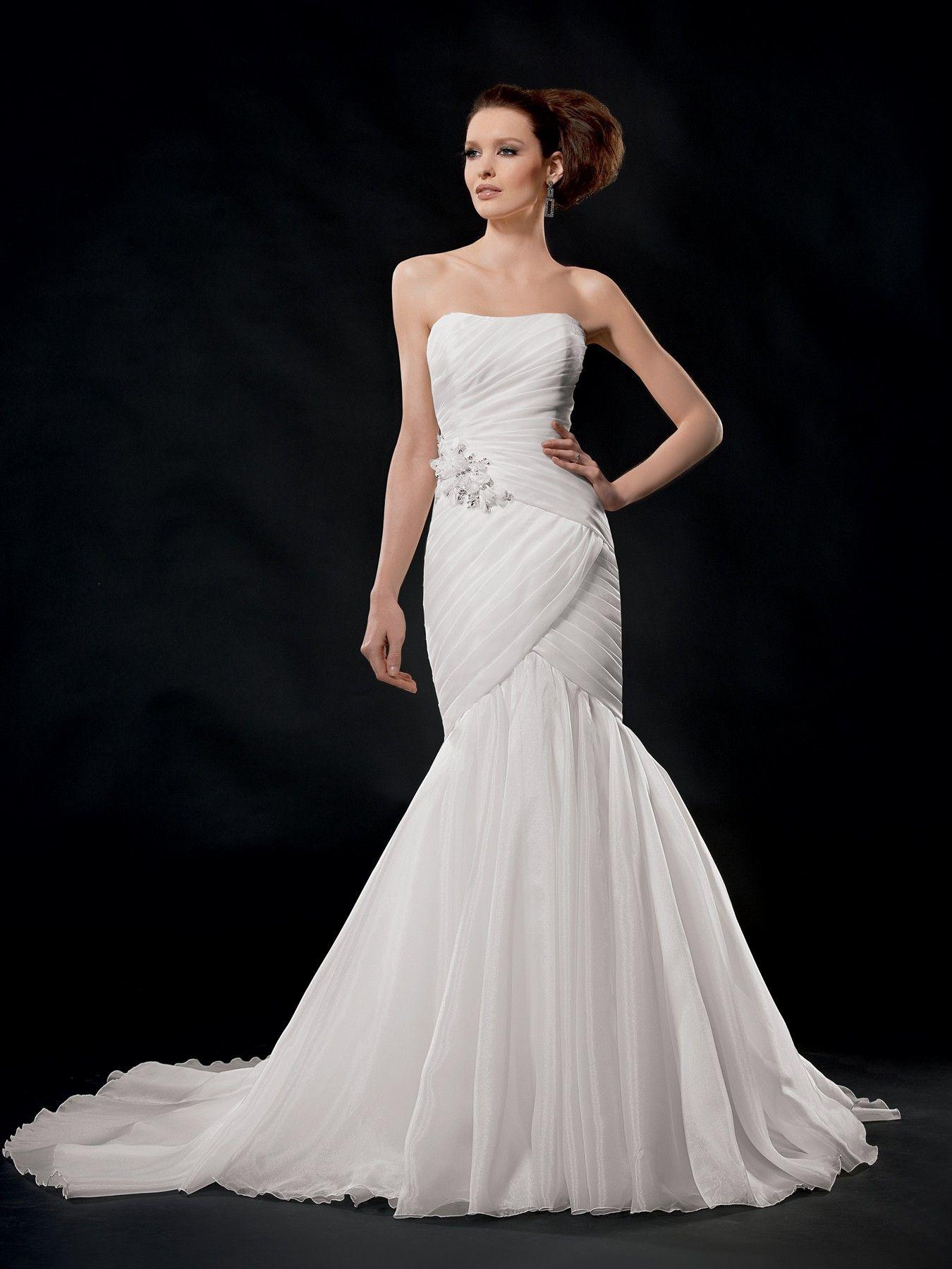 Jordan Style 9493 Online wedding dress, Organza wedding