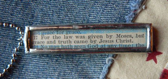 Grace Soldered Scripture Pendant by amandajolley on Etsy, $29.00