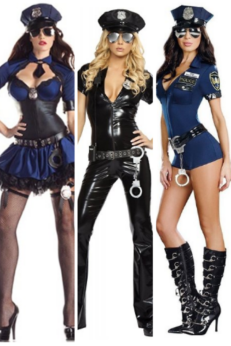 sinister, cute and slightly naughty cop halloween costumes for women