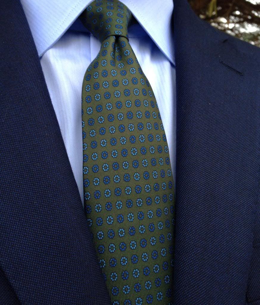 Image Result For Green Tie Styleforum Navy Suit