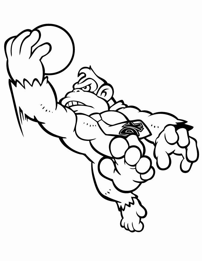 Donkey Kong Coloring Pages Best Of Awareness Donkey Kong ...