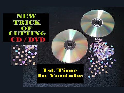 New Method Trick Of How To Cut CD Into Small Round Shape For Craft Easy At Home DIY