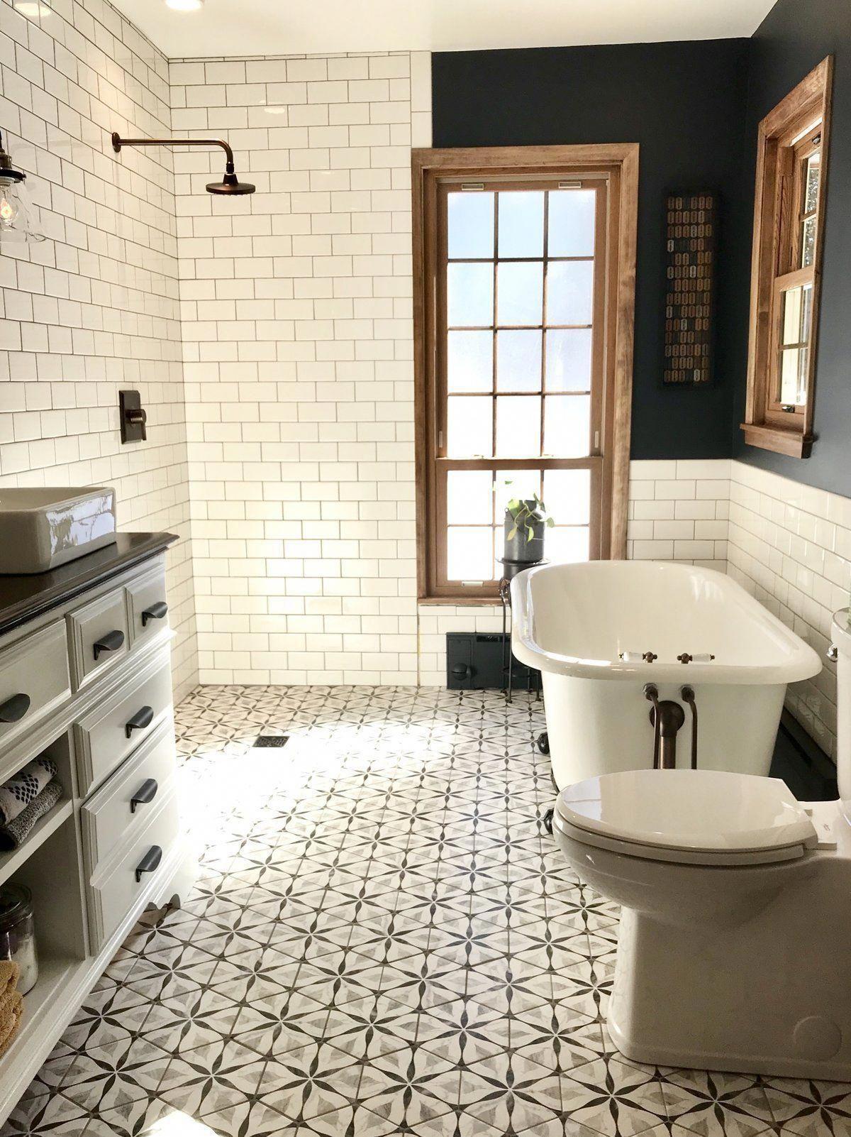 Karra 7 X 8 Porcelain Patterned Wall Floor Tile Bathrooms Remodel Small Bathroom Bathroom Design Bathroom design x 8