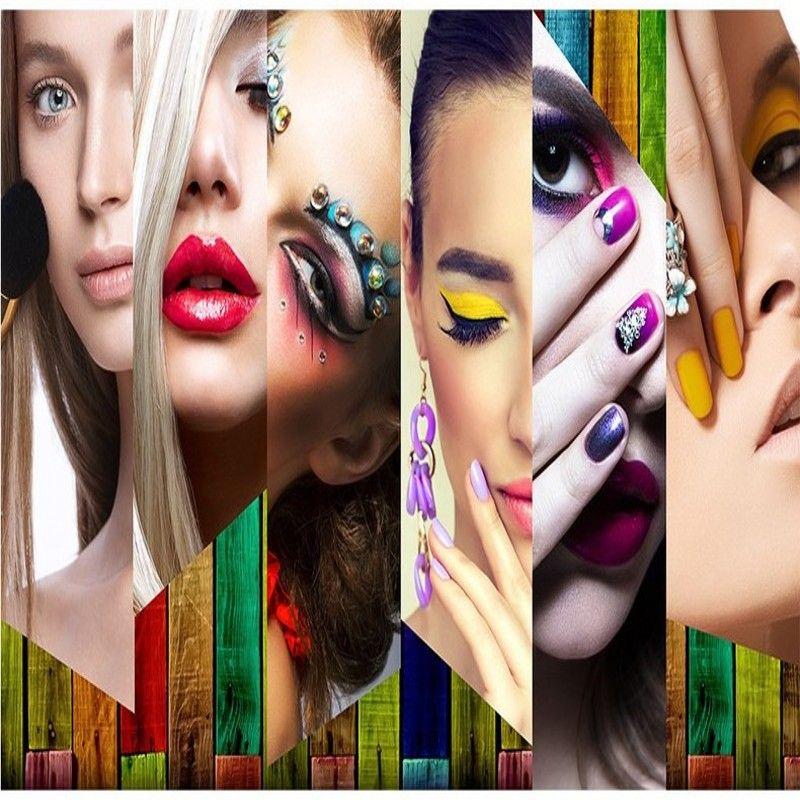 Free Shipping 3d Stereo Makeup Fresco Beauty Salon
