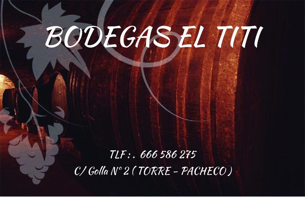 TARJETA BODEGAS EL TITI ( Cara. A )