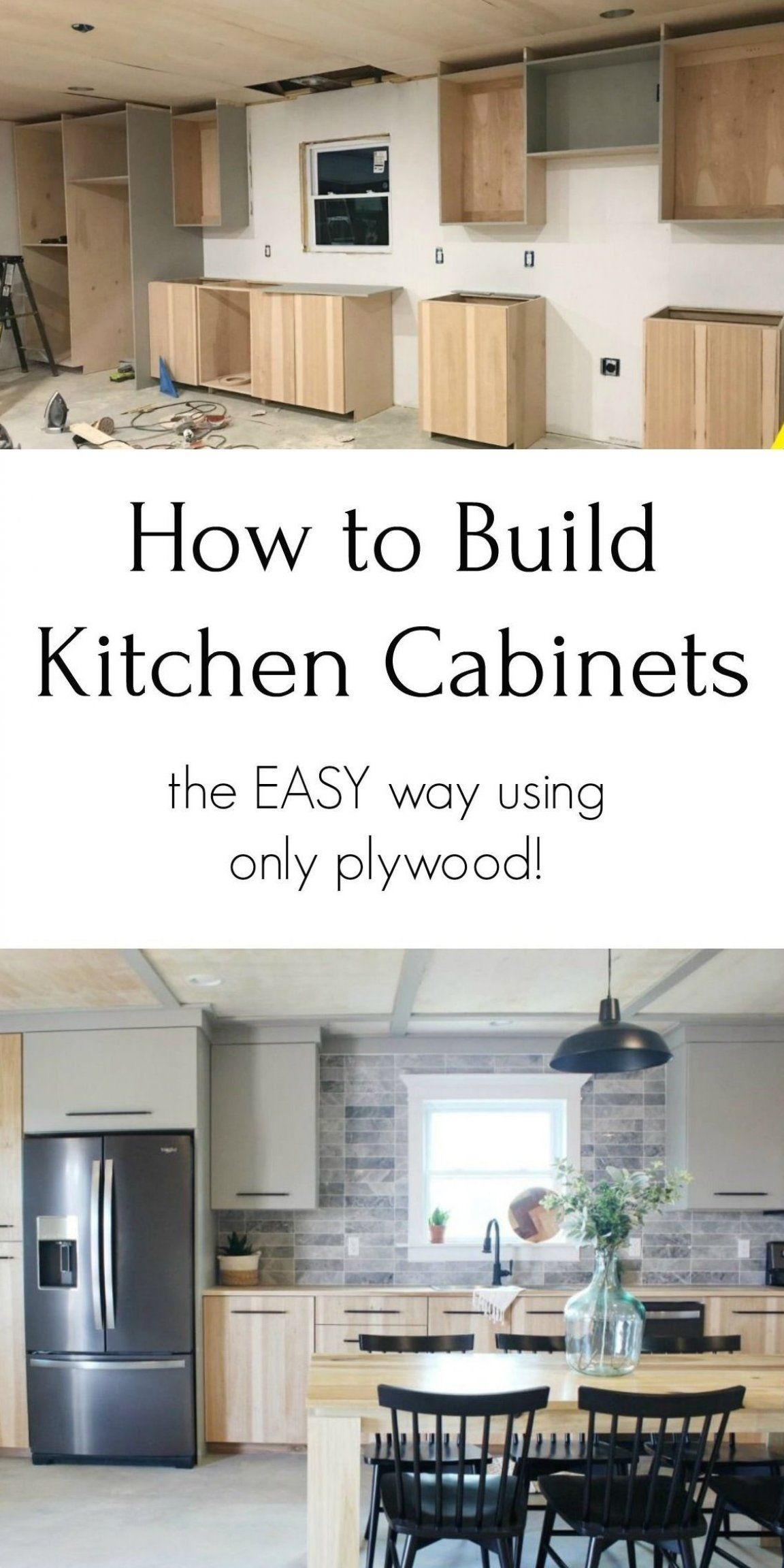 How To Build Your Own Kitchen Cabinets The Easy Way With Just Plywood Euro Style Ca In 2020 Kitchen Cabinets On A Budget Building Kitchen Cabinets Kitchen Design Diy