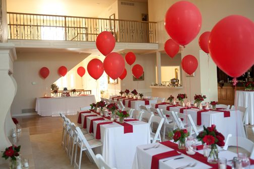 Big Red Balloons Created A Happy Festive Look For The Red And