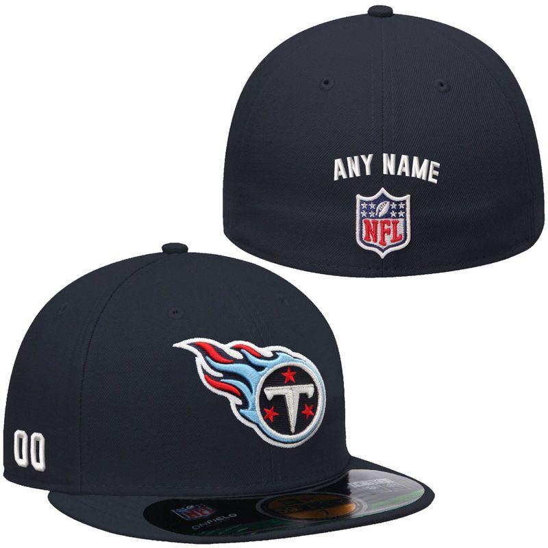 performance sportswear hot products classic New Era Tennessee Titans Men's Custom On-Field 59FIFTY Football ...