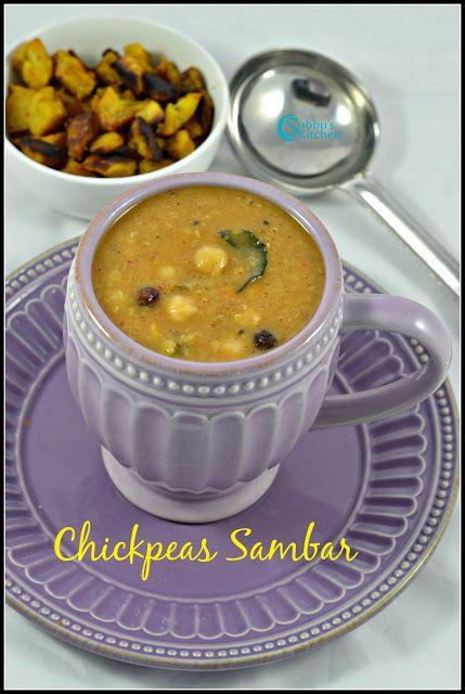 Chickpeas Sambar Recipe Kondakadalai Sambar Recipe Recipes Soaking Chickpeas Chickpea