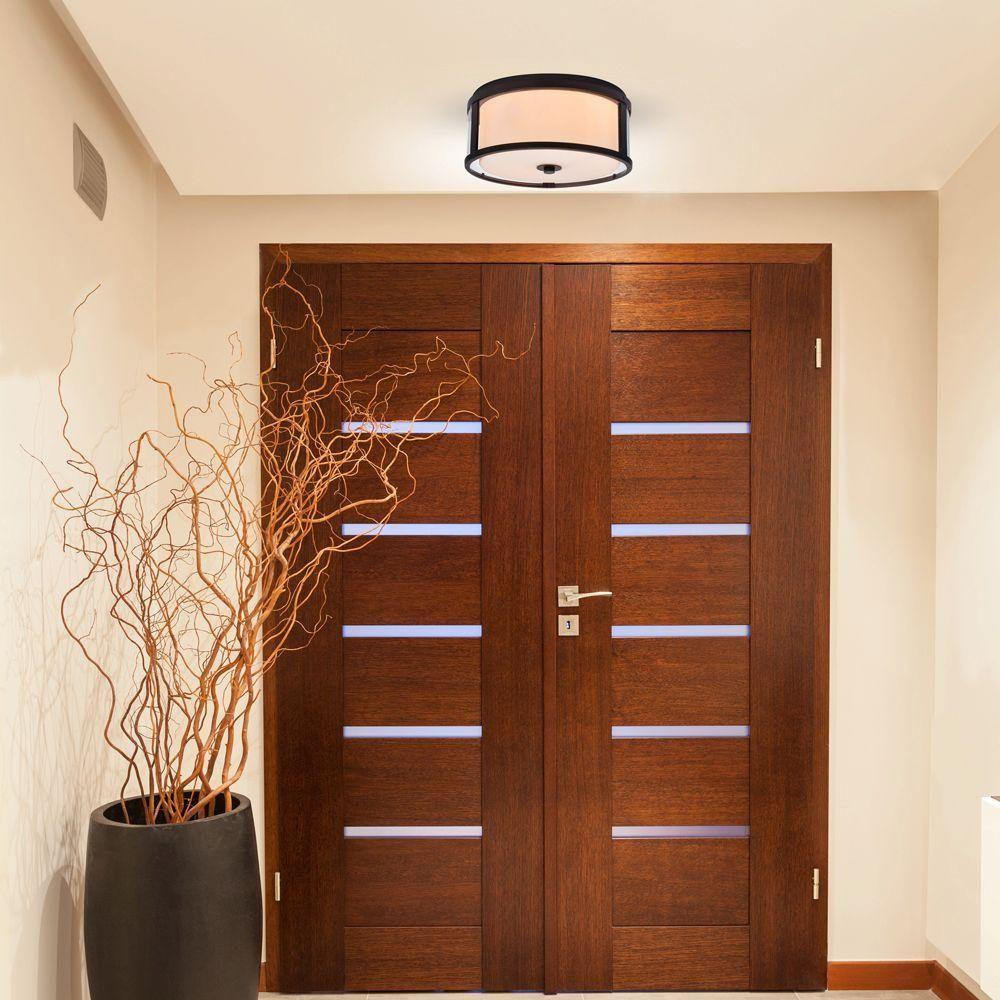 Alsy light bronze dual glass flushmount lighting pinterest