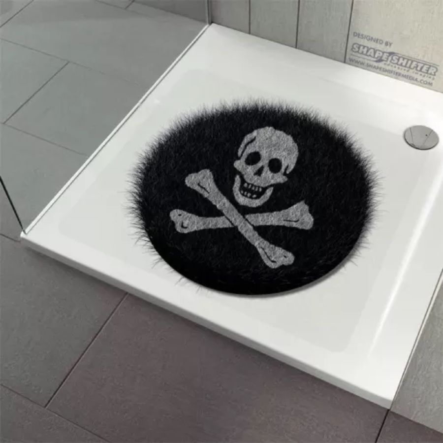 anti rutsch dusche badewanne dusch einlage matte aufkleber fluffy circle pirates. Black Bedroom Furniture Sets. Home Design Ideas
