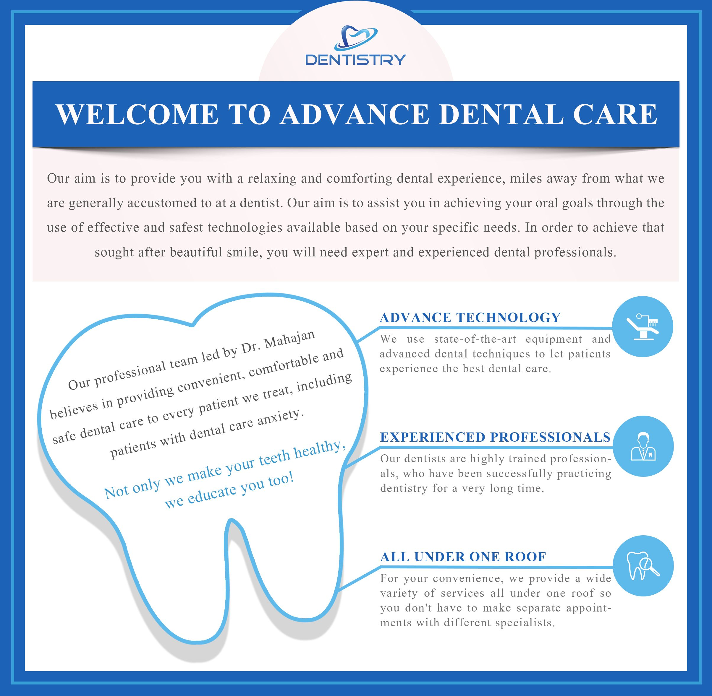 At Advance Dental Care in Waterloo, Ontario we help you get a ...