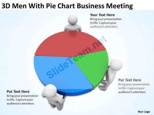 Pie Chart Templates 3D Men With Pie Chart Business Meeting Ppt Graphics Icons Powerpoint .