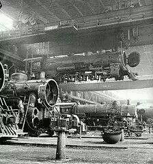 Santa Fe Flyer at Albuquerque Railroad Yard, 1943