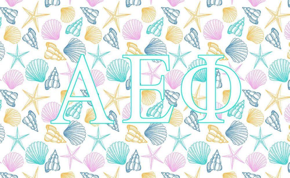 Alpha Epsilon Phi AEPHI Sorority Flag Pineapple-New!
