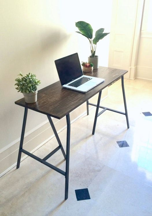 48x18 Small Desk On Ikea Legs Free Shipping Narrow Desk