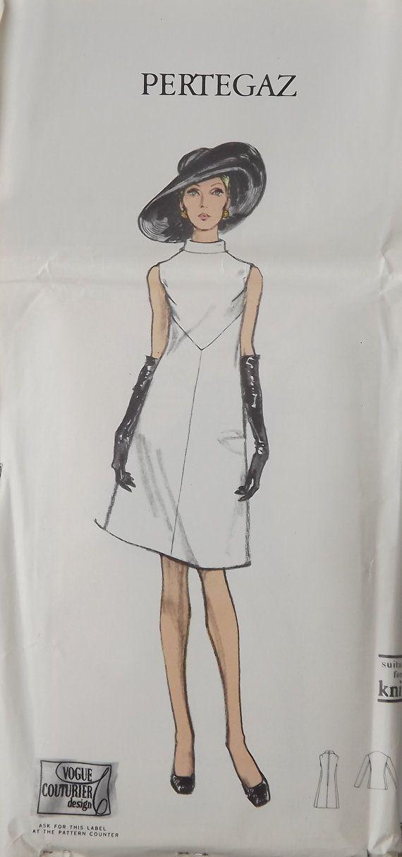 Vintage 1960\'s Vogue Couturier Design Pattern by Spanish Designer ...