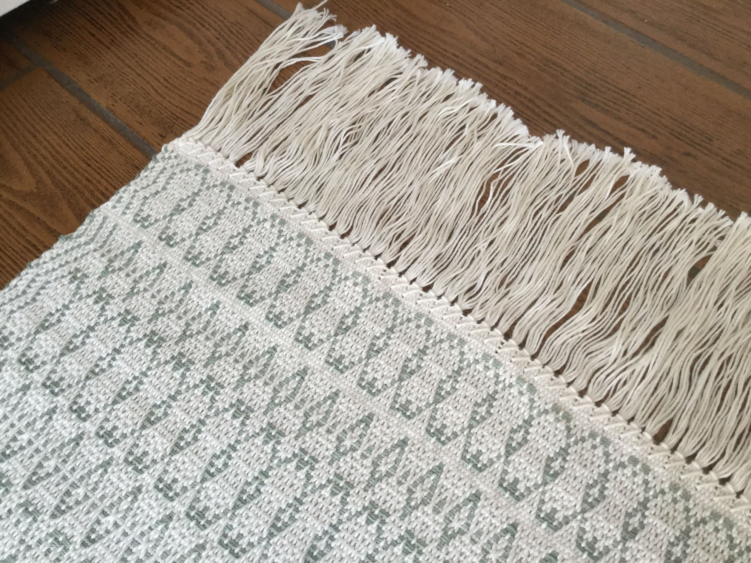 Scandinavian Kitchen Area Rug Woven In Washable Cotton