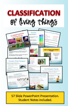 Classification PowerPoint Notes Biology classroom
