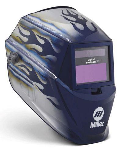 Miller Welding Helmet Blue Heat Digital Pro Hobby Lens