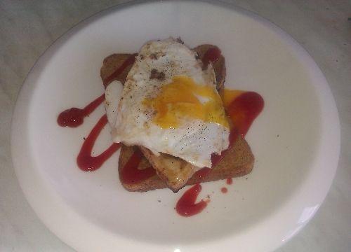 Pork Steak and Egg on Toast... Mmmmm