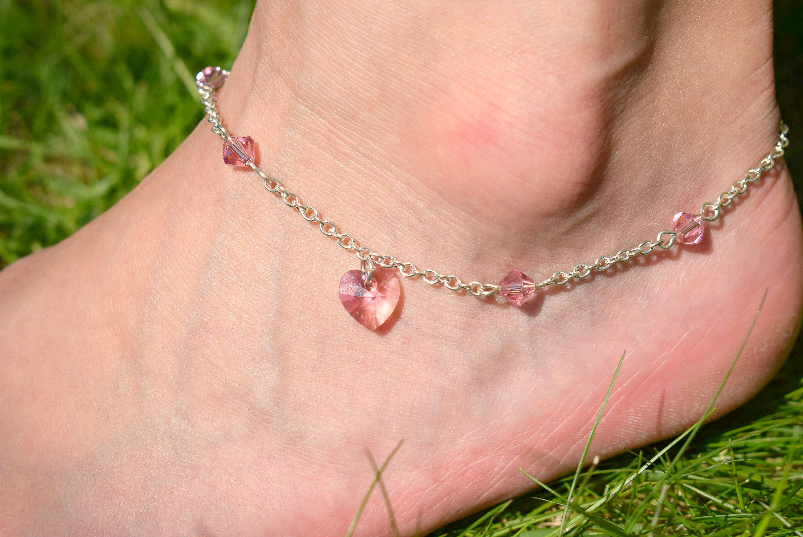 silver crafterelena with macrame popular ankle or bracelet gold anklet product bells bracelets