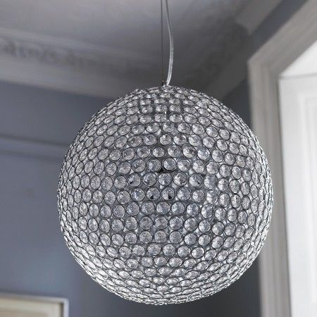 Large Sparkling Ceiling Pendant   Chandeliers U0026 Ceiling Lights   Lighting    Lighting U0026 Mirrors
