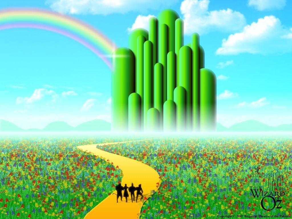 the wizard of oz wallpaper emerald city wallpaper