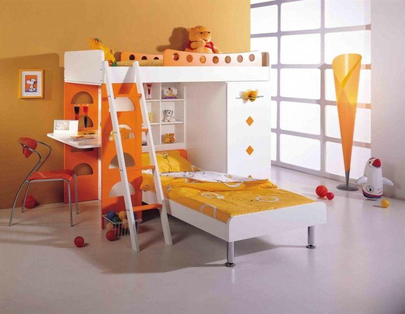 Das Hochbett besitzt auch eine normales Bett und einen ... | {Kinder schlafzimmer 24}