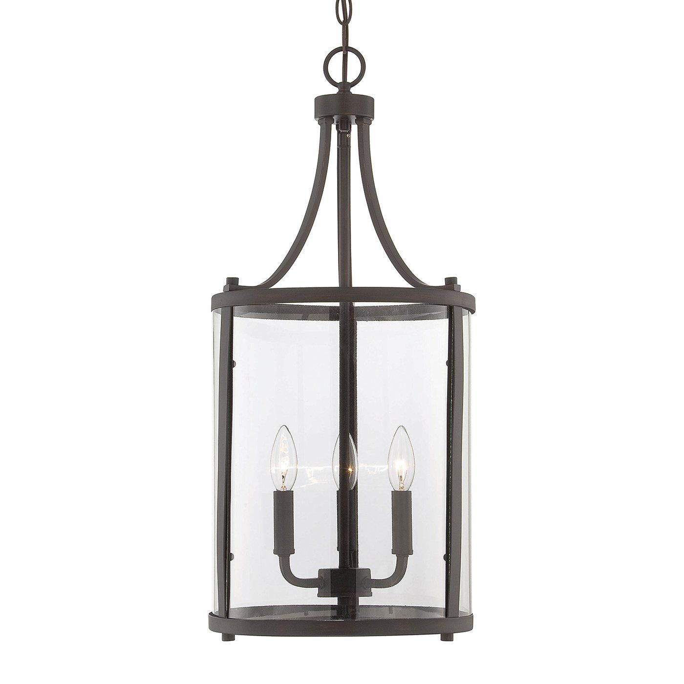 Savoy House 7-1040-3-SN Penrose 3 Light Small Foyer Lantern | ATG Stores, $178