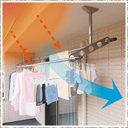日当たりや風通しアップ 斜めアーム Zan型 ホスクリーン 洗濯