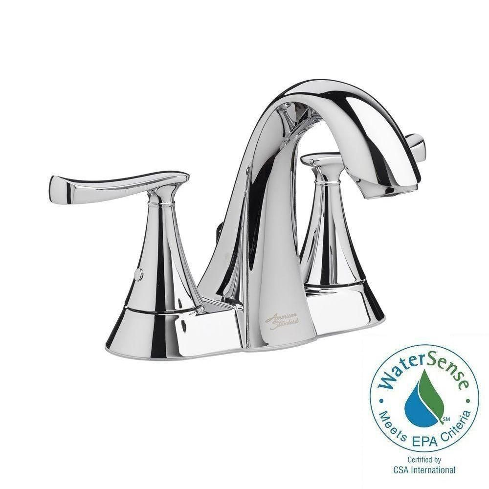 American Standard Chatfield 4 In Centerset 2 Handle Bathroom Faucet In Polished Chrome 7413201 002 Bathroom Faucets American Standard Faucet