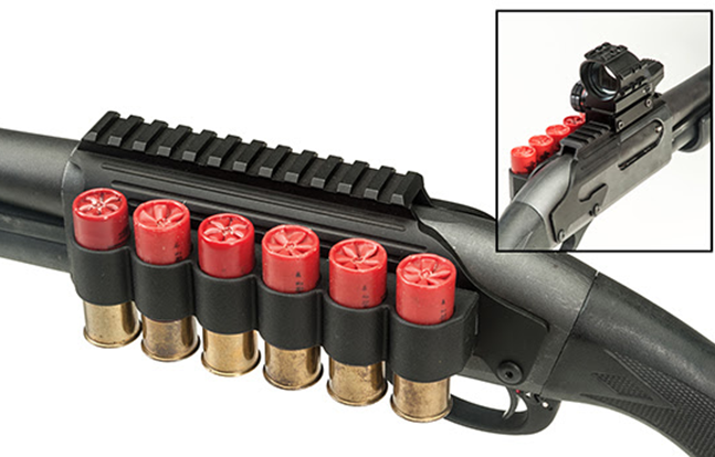 Tacstar S Shotgun Rail Mount Complete With Sidesaddle