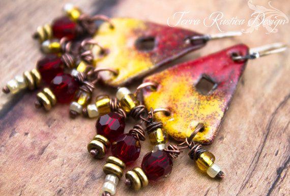 Flamenco Dancer earringsMetal & Glass by TerraRusticaDesign, $28.00