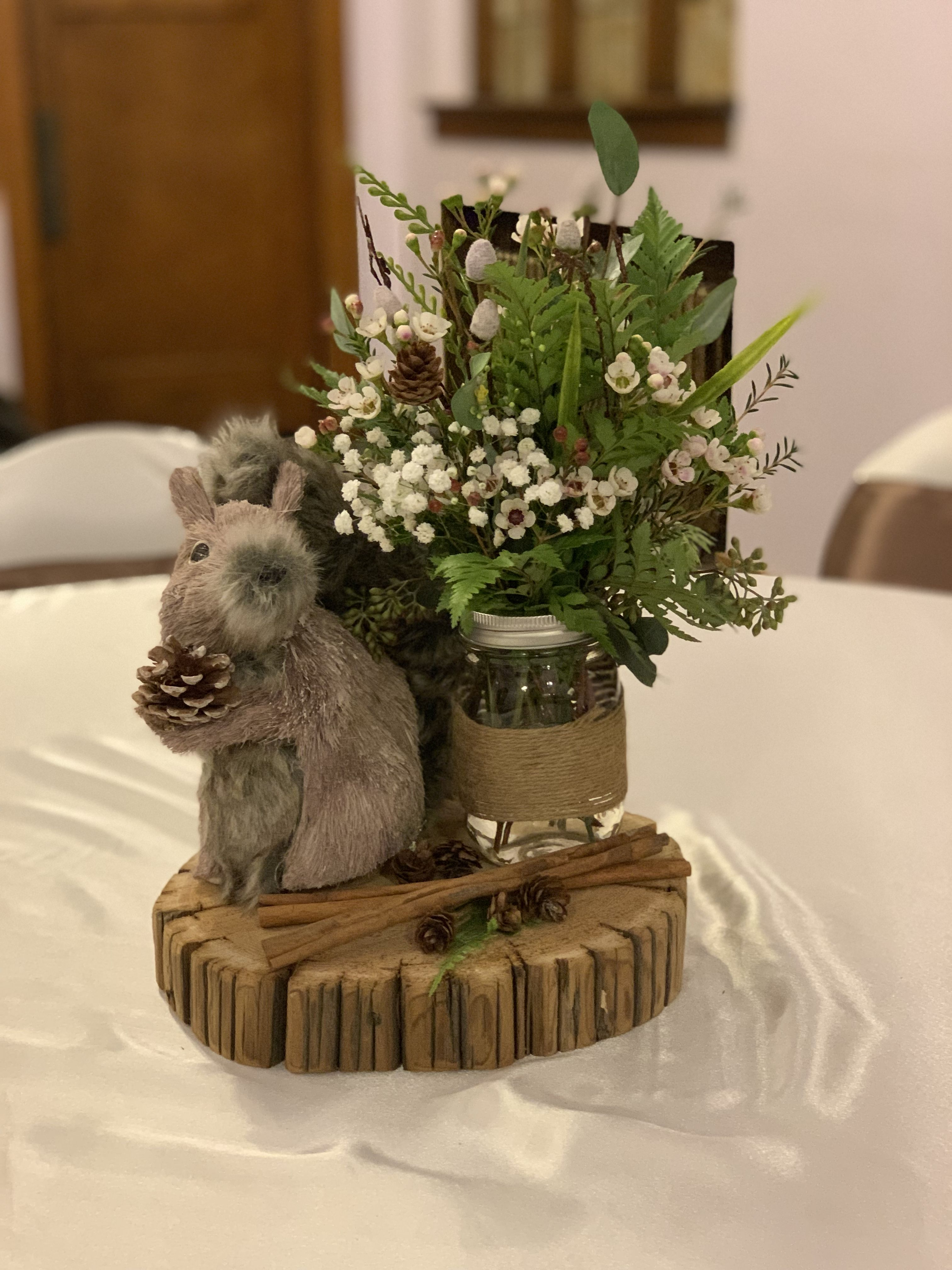 Enchanted Forest Baby Shower Centerpiece Rustic Animal Baby