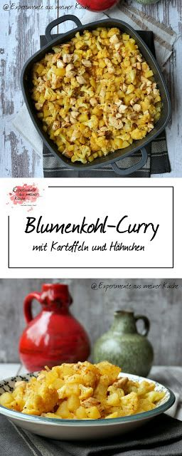 blumenkohl curry mit kartoffeln und h hnchen gesundes mittagessen. Black Bedroom Furniture Sets. Home Design Ideas