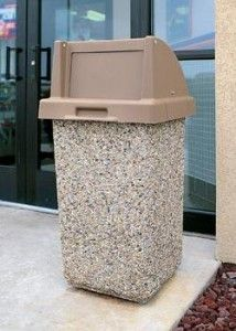Outdoor Trash Can With Wheels Outdoor Trash Canheavy Theft Proof Concrete Garbage Canmade