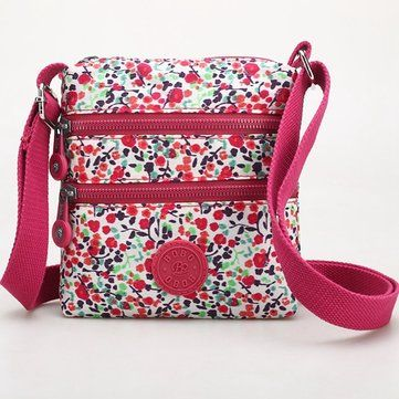 Women Multicolor Nylon Crossbody Bag Floral Shoulder Bag Outdoor Travel Bag is Worth Buying - NewChic Mobile.