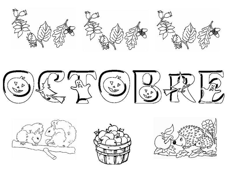 Coloriage Cp Octobre.Risultati Immagini Per Mois De L Annee Maternelle Bambini