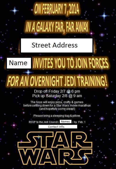 Star Wars Sleep Over Party Invitations Evite Invitations Star Wars Invitations Star Wars Birthday