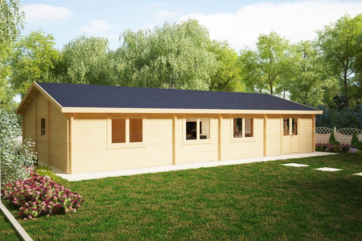 Blockhaus mit 3 Schlafzimmern Hansa Holiday G 100m2 / 14 x
