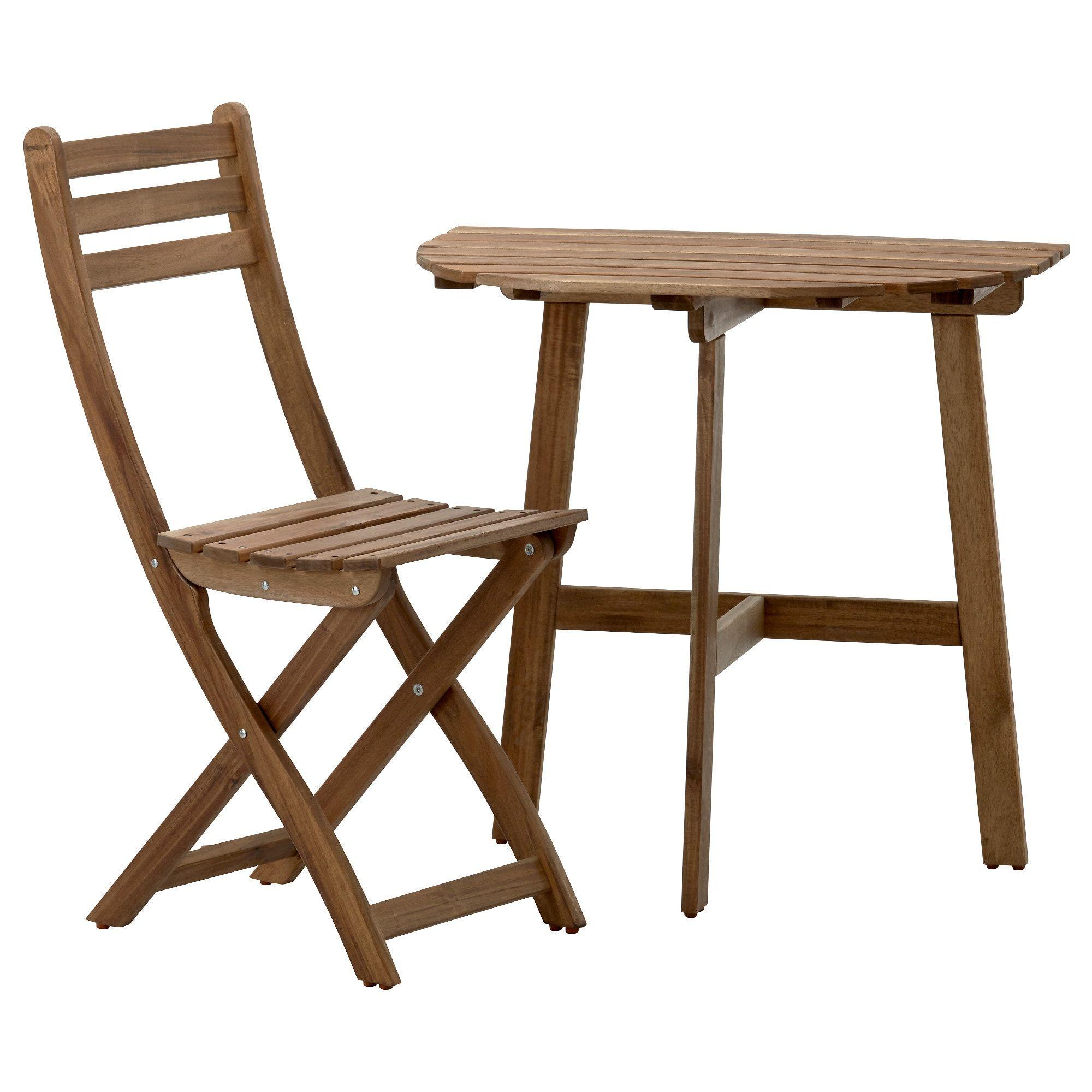 Askholmen Wandtisch Klappstuhl Aussen Graubraun Lasiert Ikea