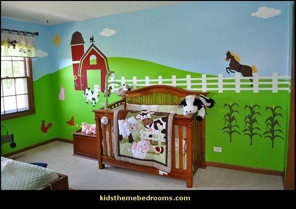 Farm Theme Baby Nursery Wall Stencils Decorations