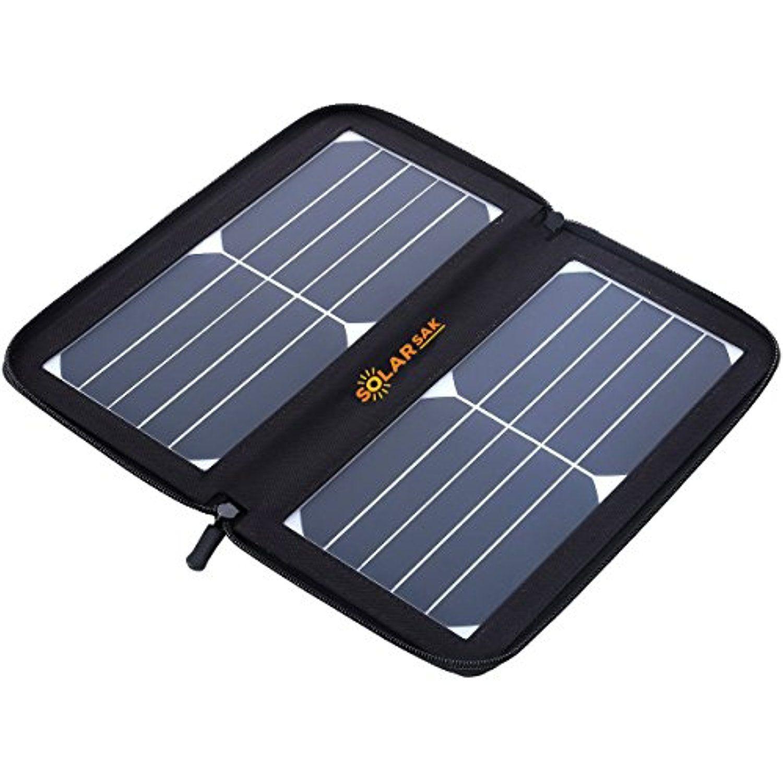 Solarsak Sun Piece 10w Portable Solar Panel W 4 Carabiners Waterproof Neoprene Pouch Black Cont Solar Phone Chargers Solar Panel Charger Solar Charger