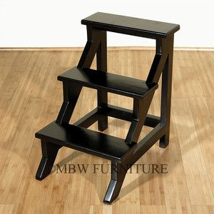 Library Step Ladder With Images Step Stool Solid Mahogany Stool