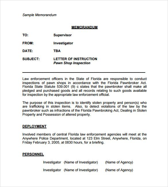 sample casual memo letter examples format business templates free - free business proposal letter
