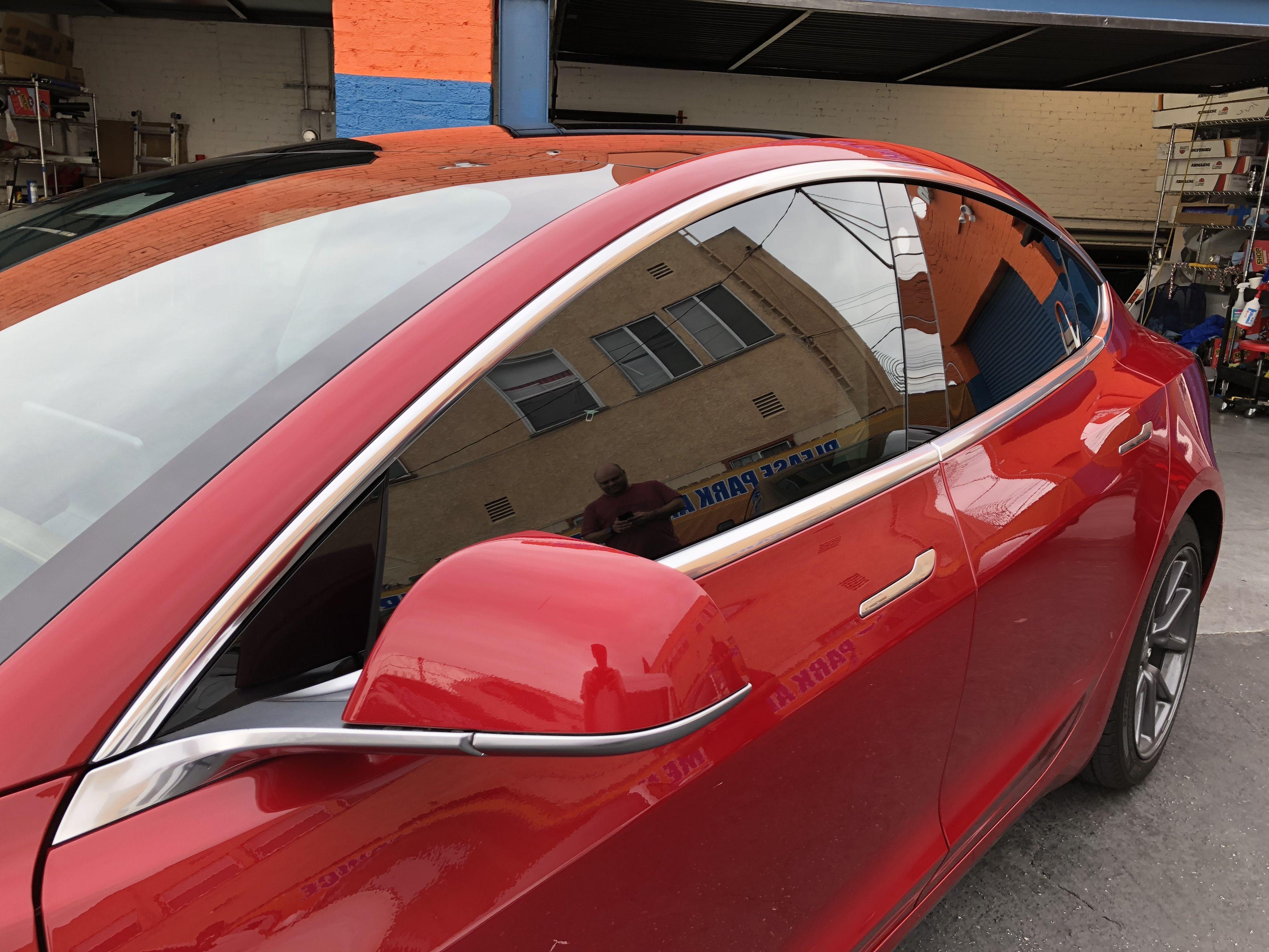 Huper Optik Ceramic Tint 30 Installed On Tesla Model 3 Tinted Windows Tints Tesla Model