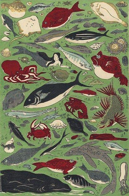 La Petite Sirene おしゃれまとめの人気アイデア Pinterest Aurore Mialhe 日本画 シュールなアート 魚 絵