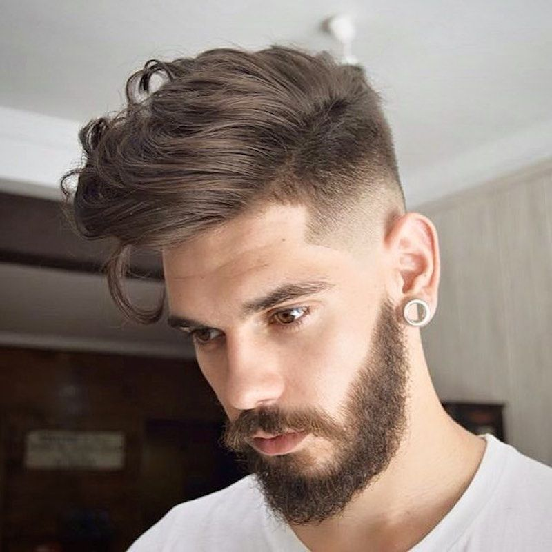 High Fade With Long Hair On Top This Is A Good Haircut For Men That Have Thick Curly Or Wavy Hair Again Long Hair Styles Men Cool Hairstyles Haircuts For Men