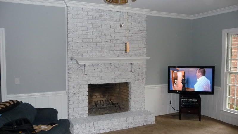 Wbreedlove S Image White Wash Brick Fireplace White Brick